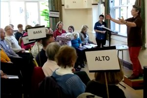 German pronunciation coaching with Elizabeth at the April 2018 workshop