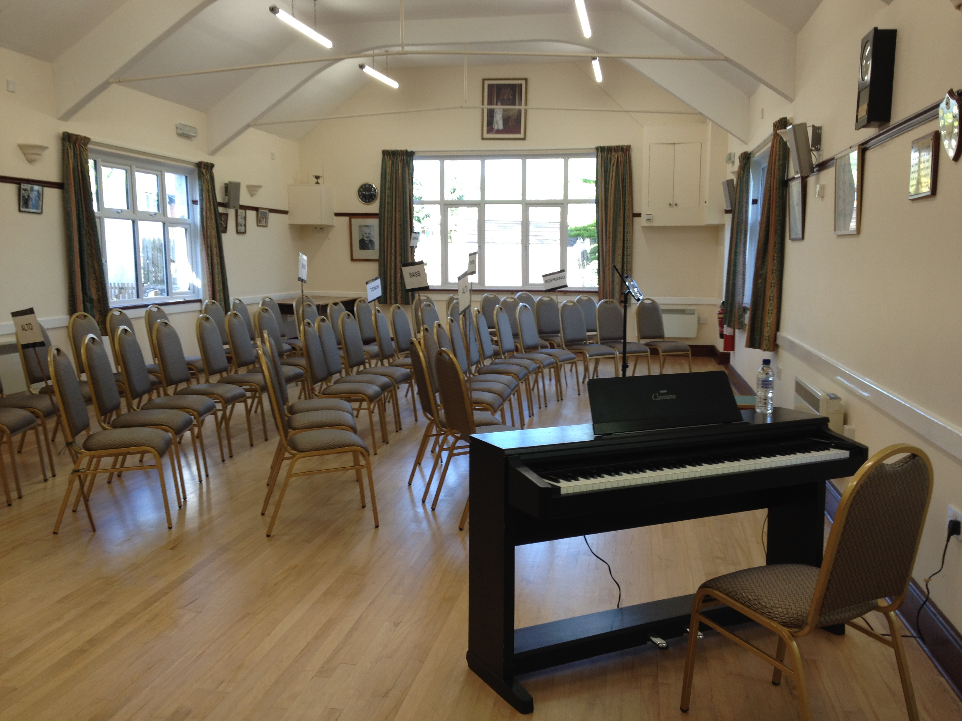 The village hall awaits... at the May 2018 Workshop.
